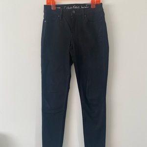 black designer calvin klein denim skinny jeans!!